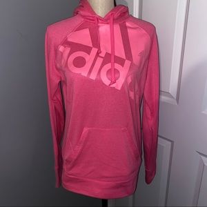 NWOT Adidas Logo Hot Pink Go To Hoodie